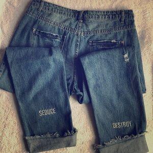 Seduce and Destroy Boyfriend Jeans US 8